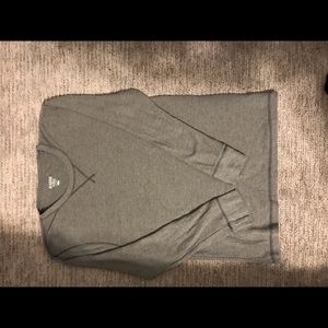 Old Navy Shirts - Old Navy Classic Crew Neck Henley. Gray. Size L